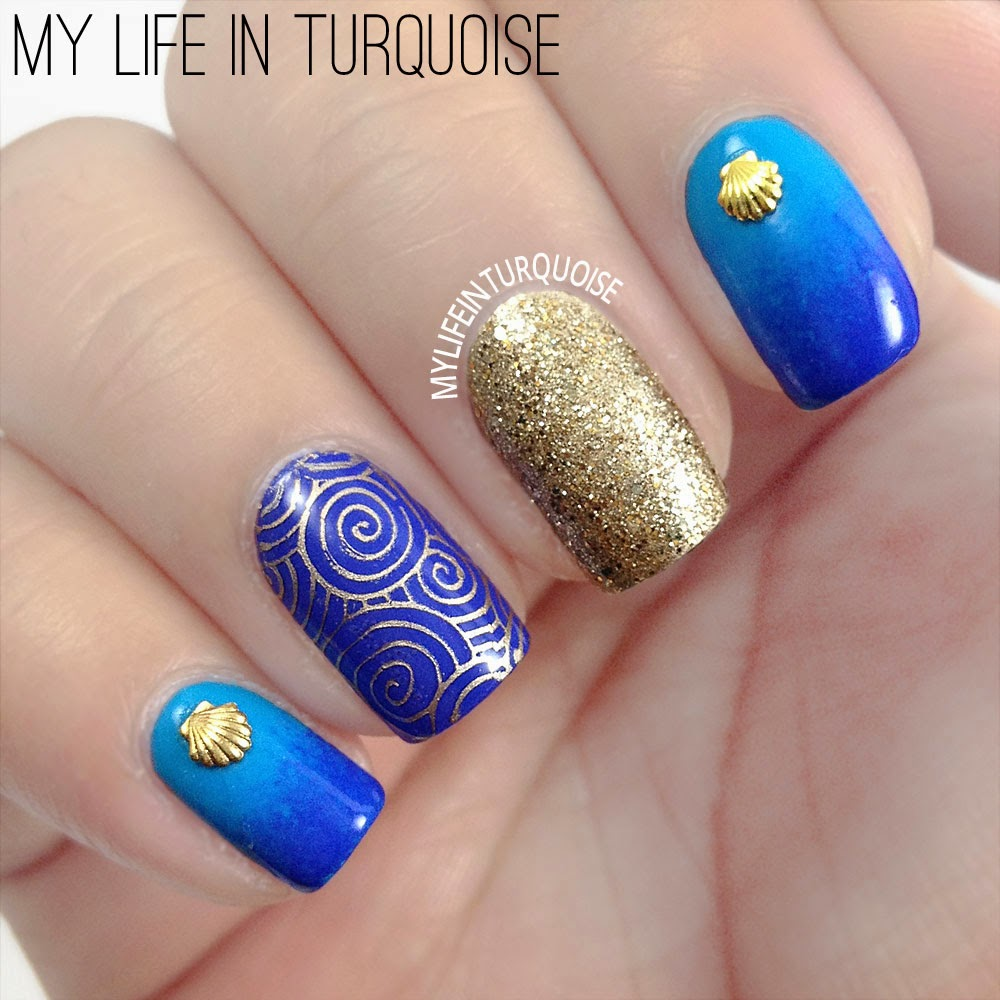 Seashells-and-Waves-Nail-Art