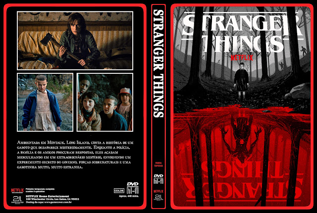 Capa DVD Stranger Things Primeira Temporada [Exclusiva]