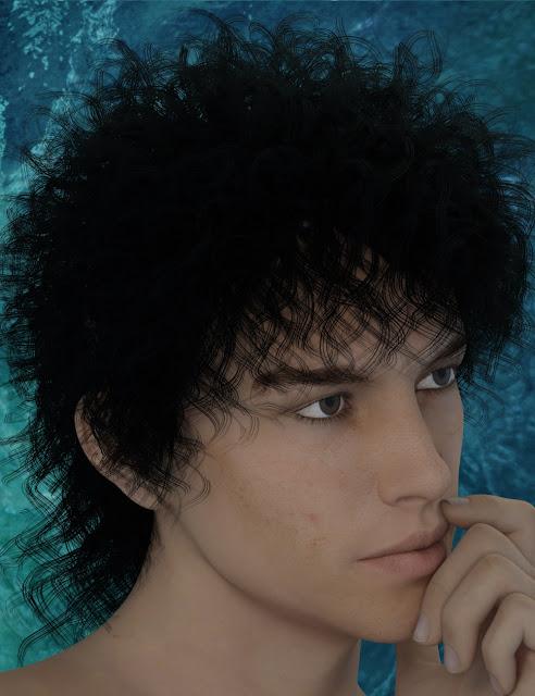 Mairia Hair for Genesis 3 Female and Male