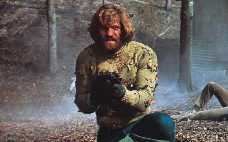 Raimund Harmstorf als Heinz Klett in BLUTIGER FREITAG (1972). Quelle: Aushangkarte (Ausschnitt) / Gloria Film