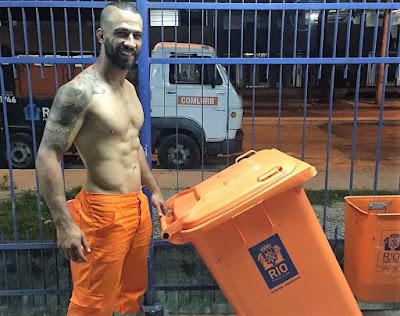 #InstaBoy: Jorginho Filho, o Gari gato da cidade do Rio de Janeiro