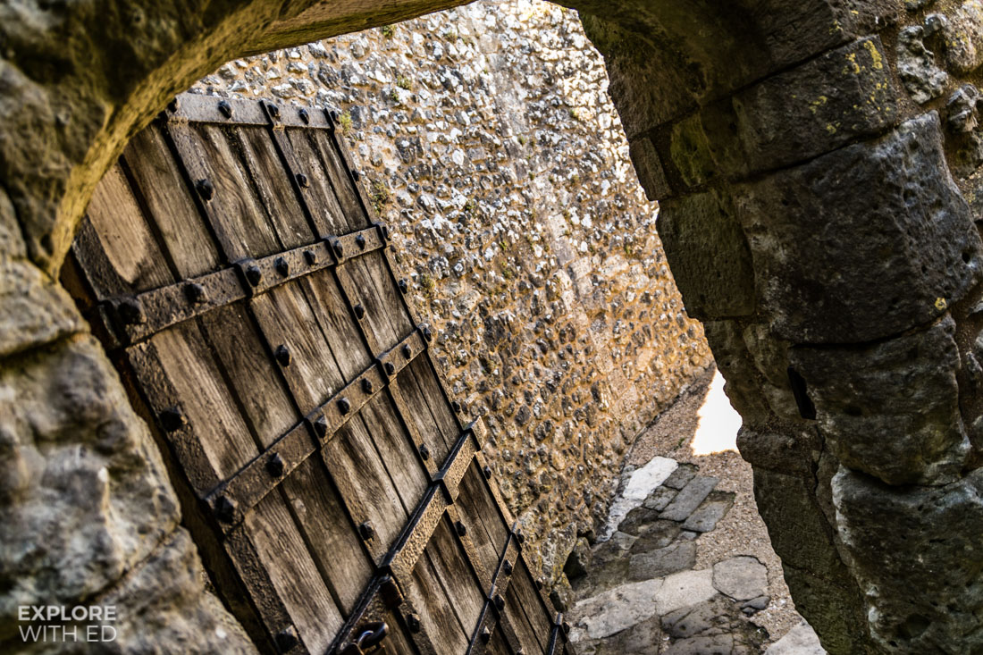 Old doors of Carisbrooke Castle