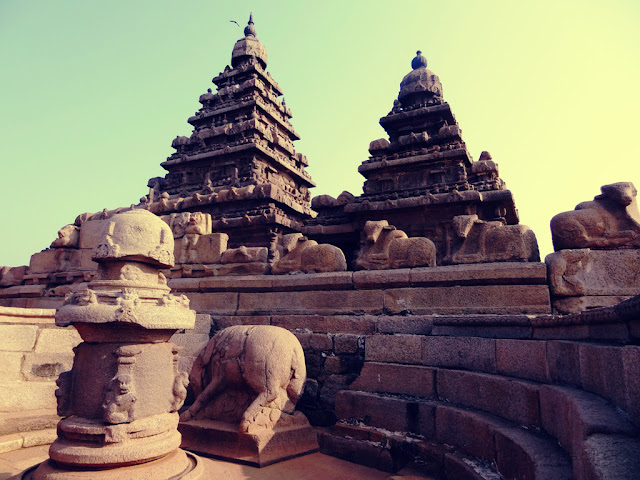 Ancient Varaha shrine of Shore temple - UNESCO World Heritage Site - Mahabalipuram India - Pick, Pack, Go
