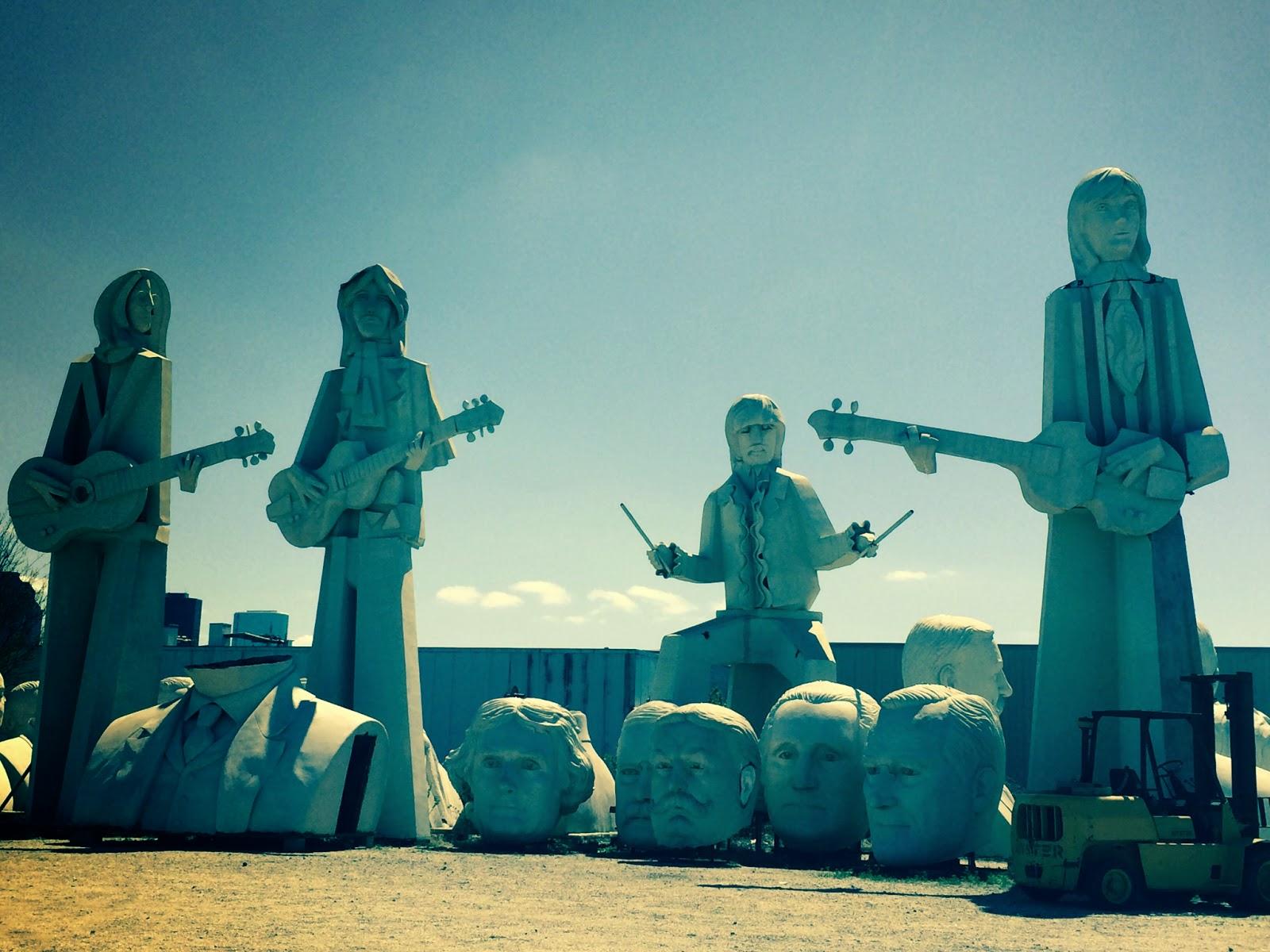 Houston Beatles Statues Trendy in Texas