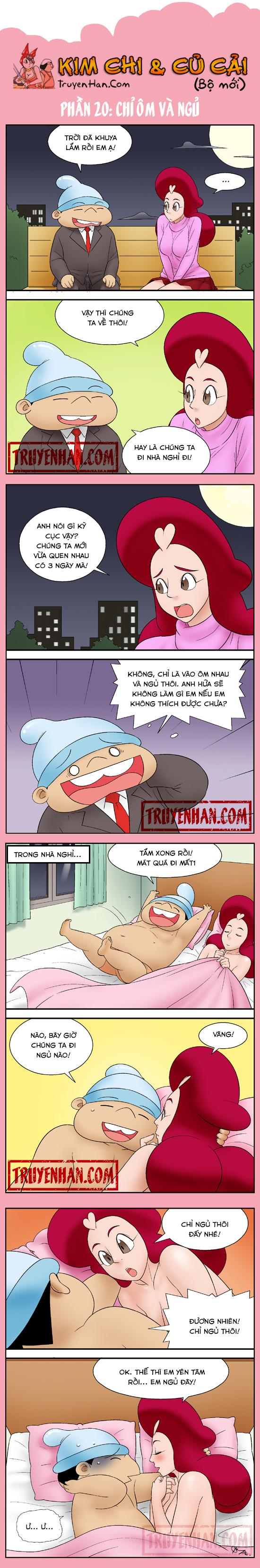 Kim Chi & Củ Cải (bộ mới) phần 20: Chỉ ôm và ngủ