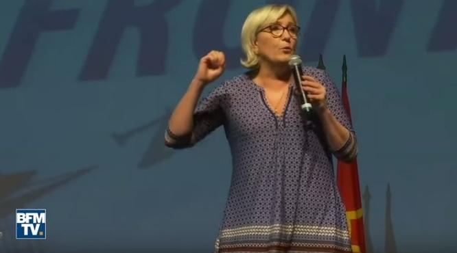 Le clivage gauche-droite est mort et c'est grâce à nous, estime Marine Le Pen à Toulouse