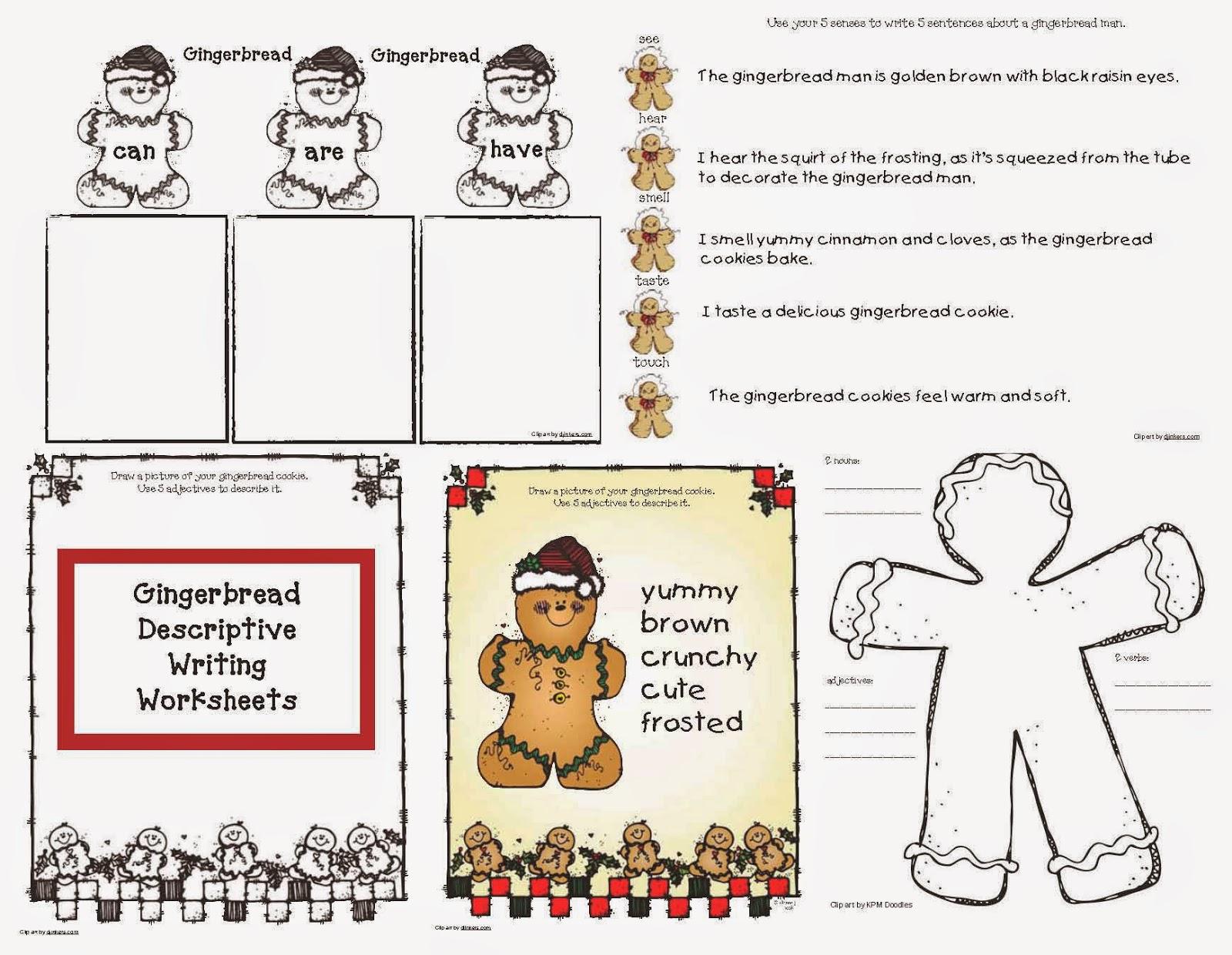 classroom bies gingerb descriptive writing worksheets gingerb descriptive writing worksheets