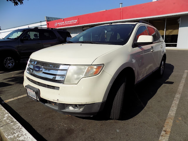 2008 Ford Edge before painting at Almost Everything Auto Body.