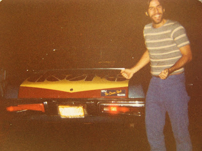 Tommy Mondello in the Factory parking lot early 1980's to see Crystal Ship play