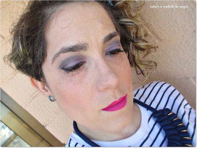 Maquillaje primaveral en morado y fuxia