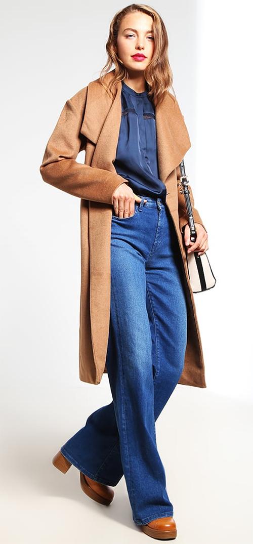 Manteau femme hiver camel chic Mint&berry
