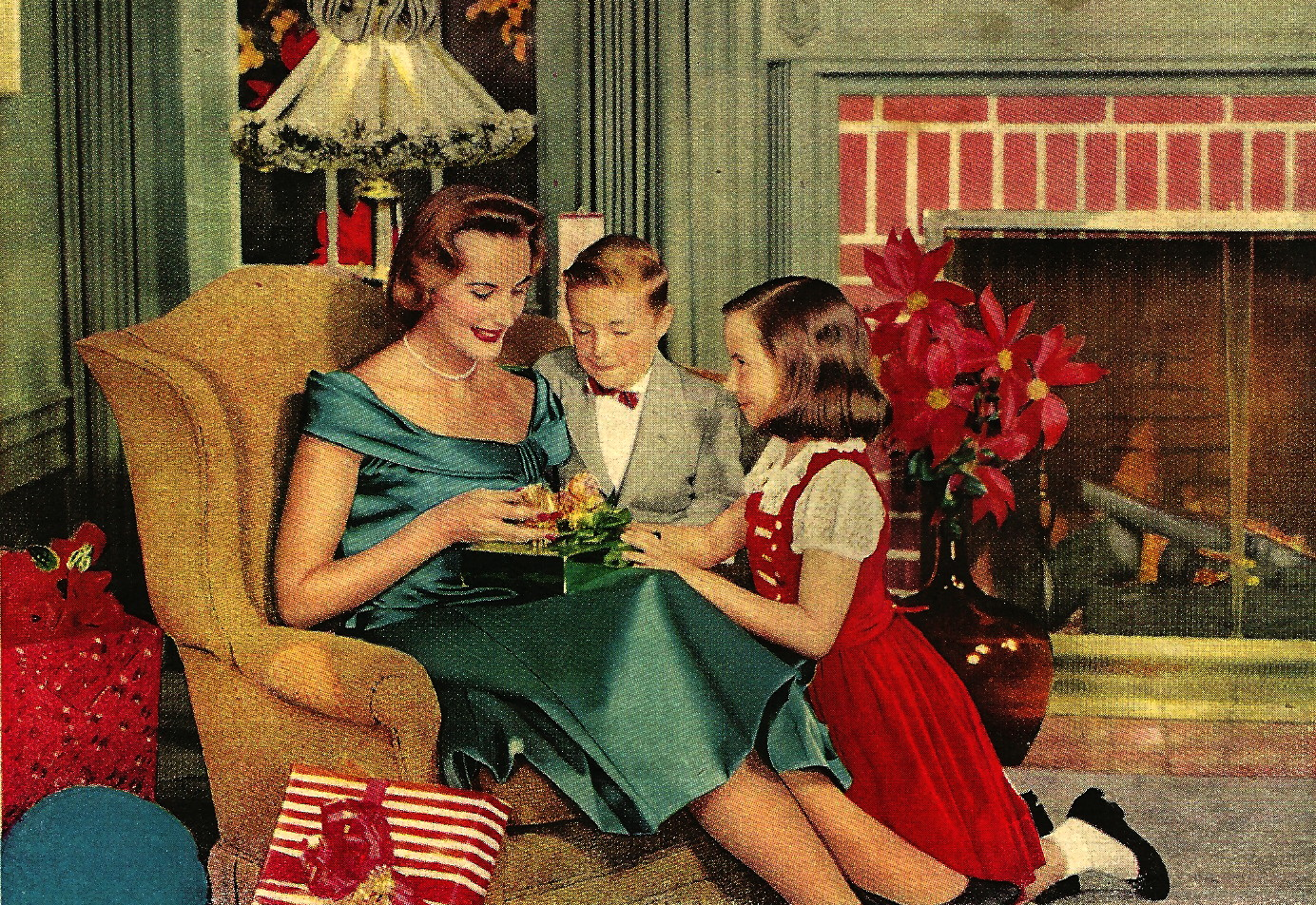 Images Of Christmas In The 1950s 1950s Christmas Tree Photo