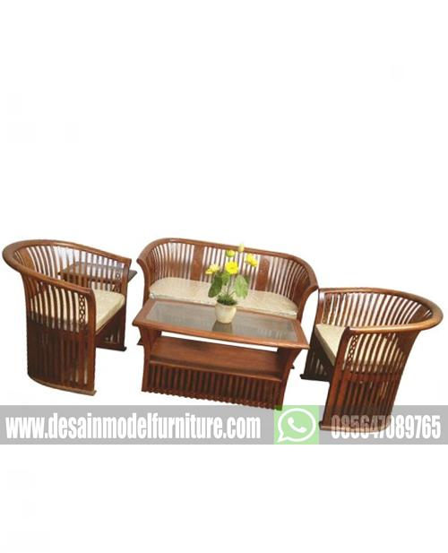Set kursi tamu keranjang kayu jati murah