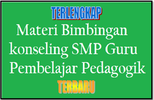Download Materi Bimbingan Konseling (BK) SMP Dalam Guru Pembelajaran Pedagogik Terbaru