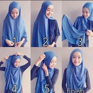 Inspirasi Cara Memakai Hijab Modern Syari Menutup Dada Namun Tetap