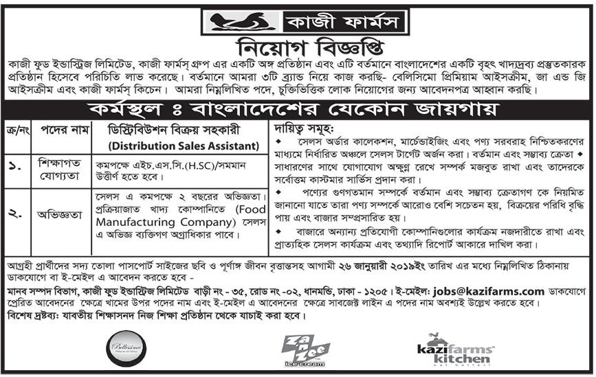 Kazi Farm's Group of Bangladesh Job Circular 2019