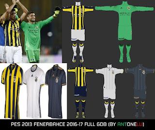 PES 2013 Fenerbahce 2016-2017 Kits