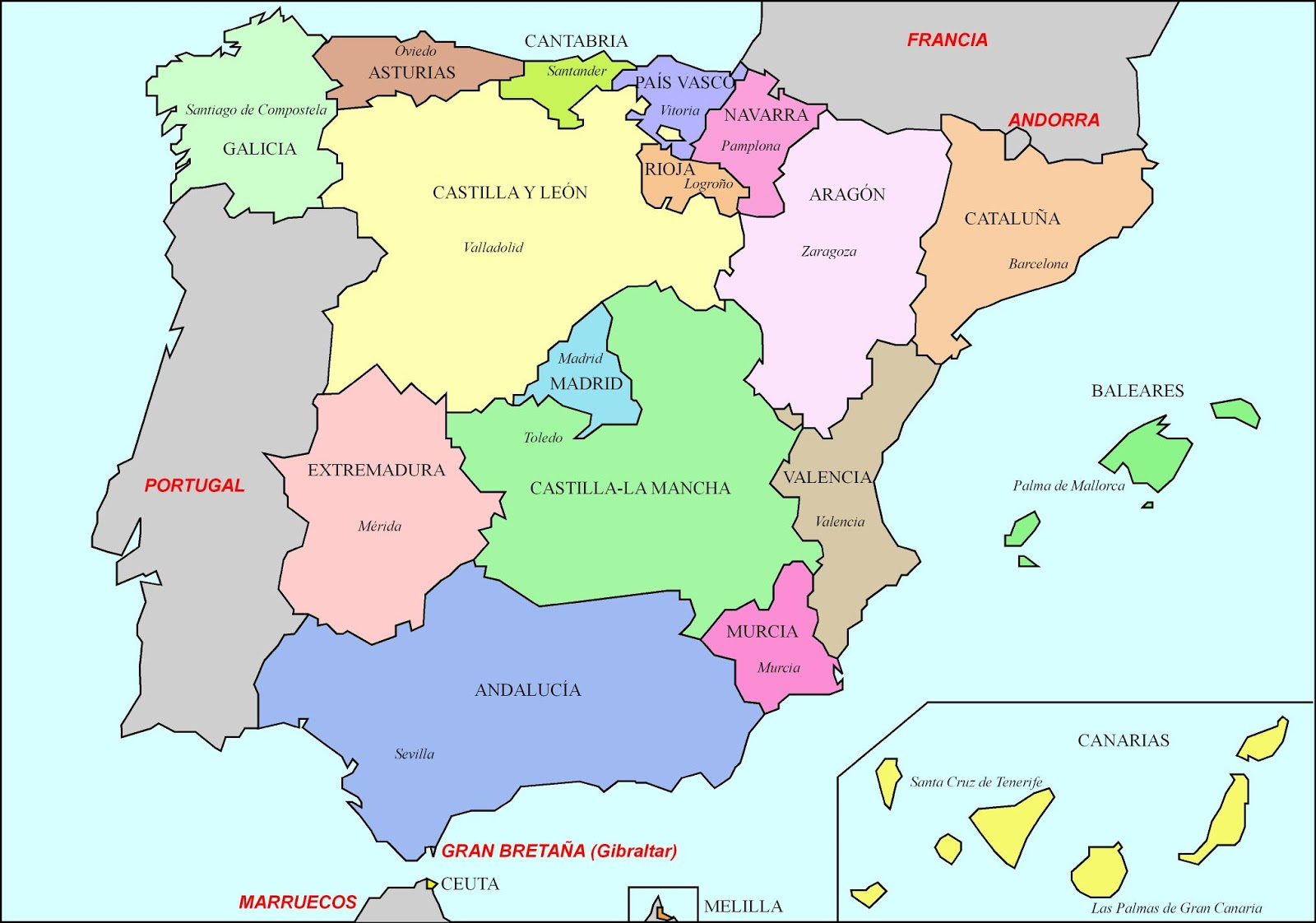 Map Of España Espana Map