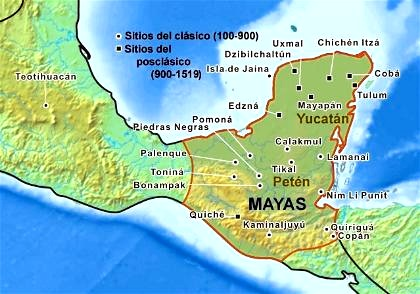 ubicacion cultura maya