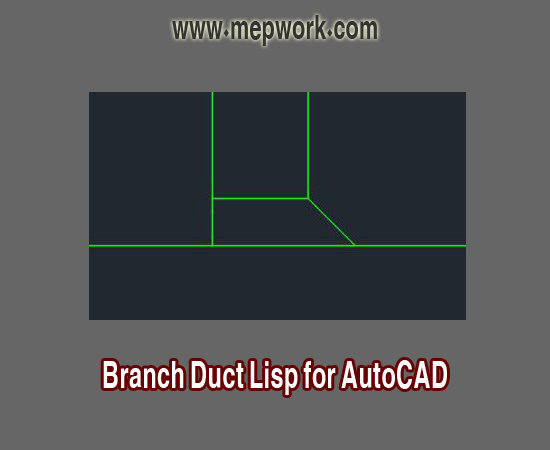 autocad lisp for branch duct design