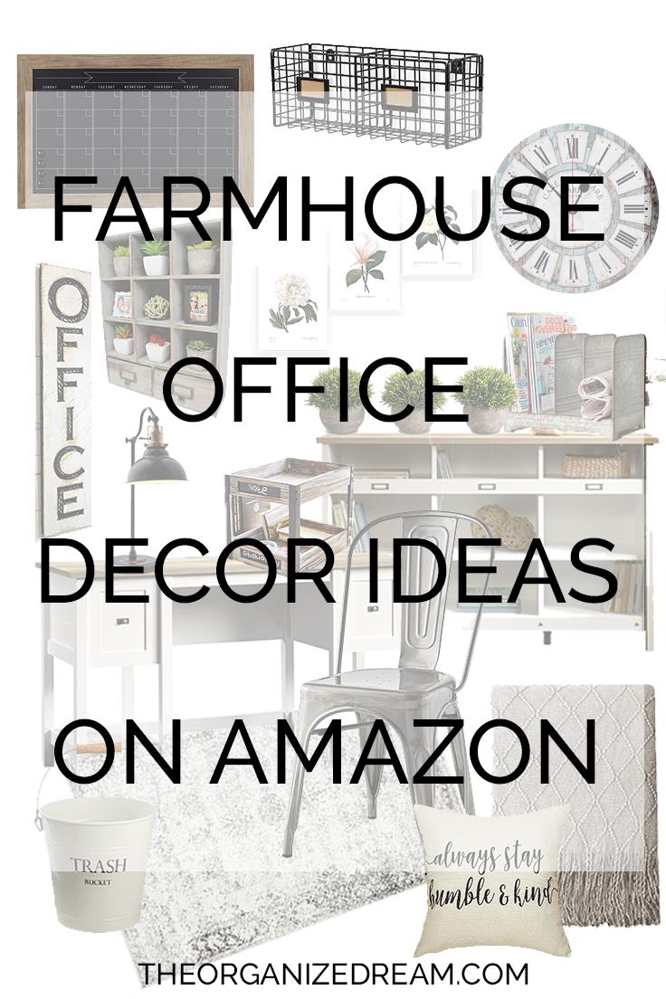 Farmhouse Office Decor Ideas from Amazon