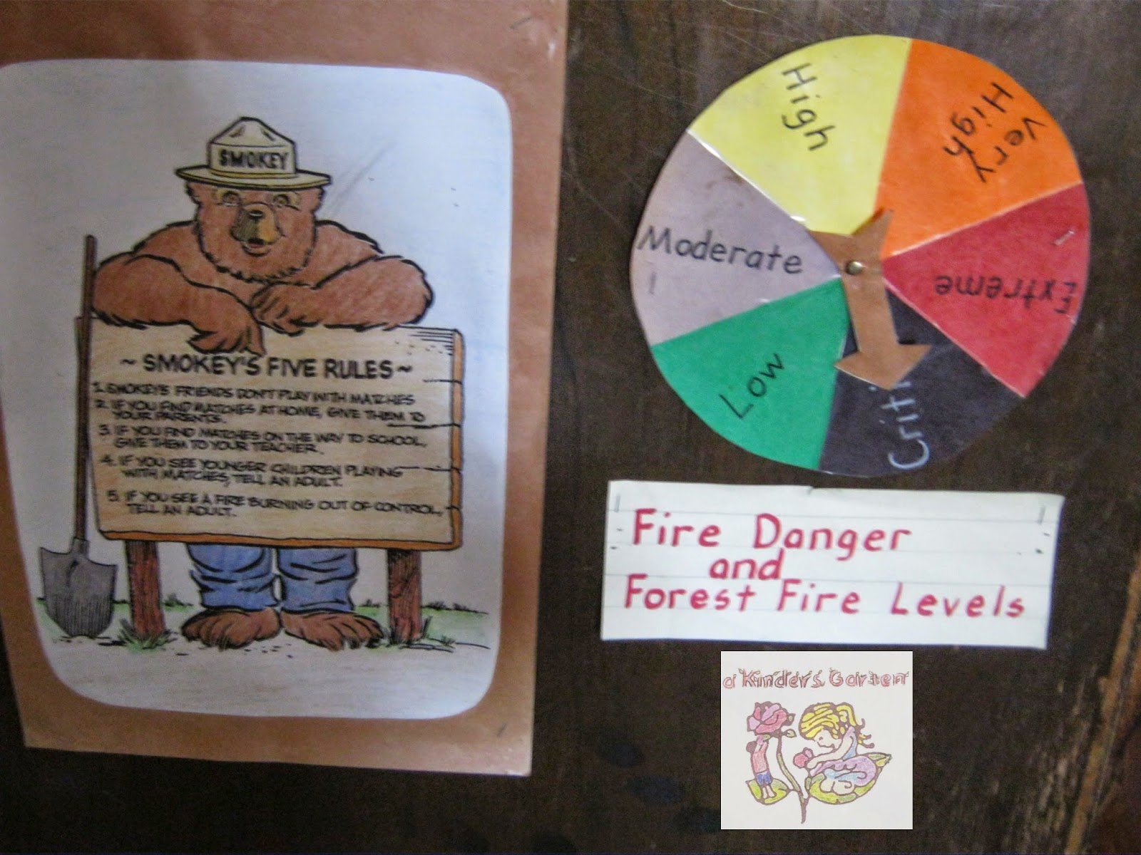 a kinders garten vintage homeschool smokey the bear forest fire
