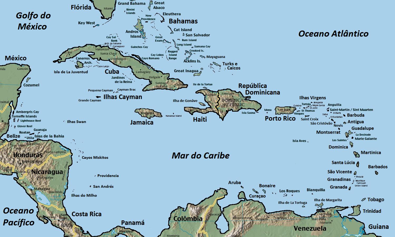 #Caribe ou Antilhas, Geografia e História do Caribe