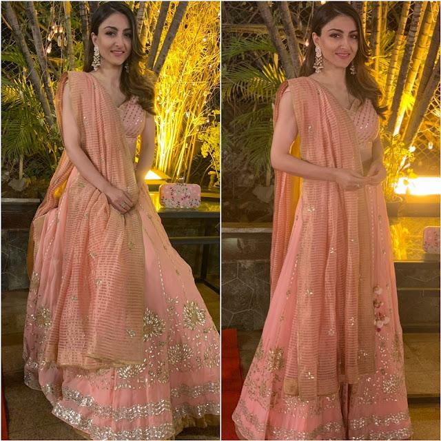 Soha Ali Khan Wears Devnaagri for a Wedding