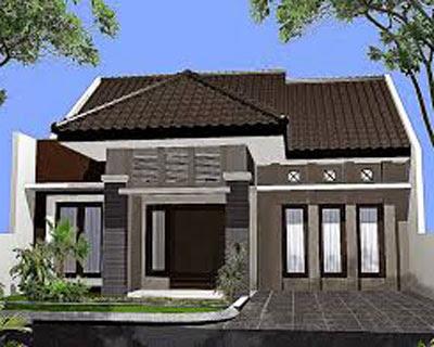 model bentuk rumah sederhana di pedesaan