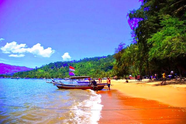 Gambar Pantai Carolina Sumatera Barat