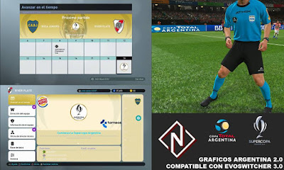 PES 2019 Argentina Graphics Pack 2.0 by Nahue Facemaker