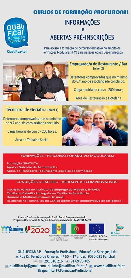 Cursos gratuitos no Funchal