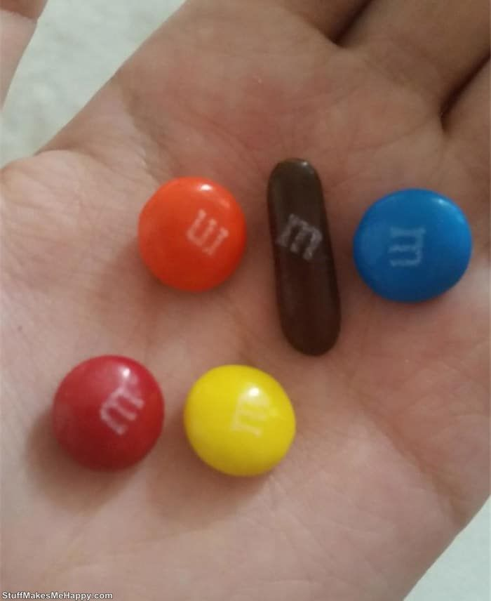 12. Stretched M & M's