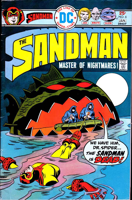 The Sandman v1 #6 dc bronze age comic book cover art by Jack Kirby, Wally Wood