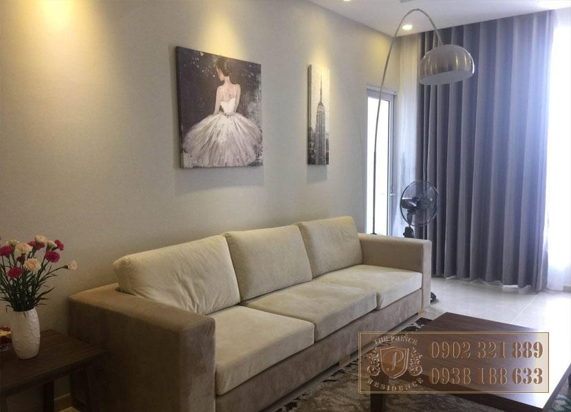 căn hộ The Prince 3PN tầng cao - sofa phòng khách