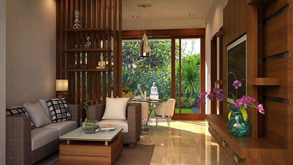 Hiasan Ruang Tamu Ala Bali