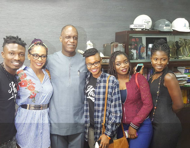 Beat FM owner Chris Ubosi hangs out with all 5 BBNaija finalists