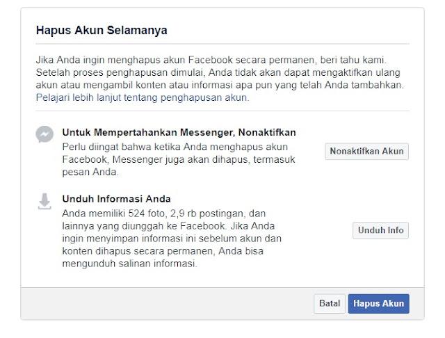 Cara Menghapus Permanen Akun Facebook