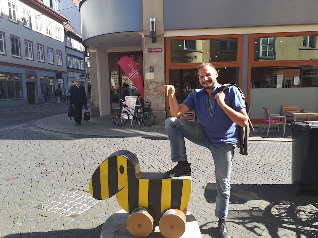 The Social Traveler catches Die Tigerente in Erfurt