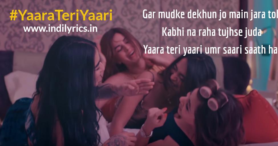 Yaara Teri Yaari   Darshan Raval   Full Song Lyrics with