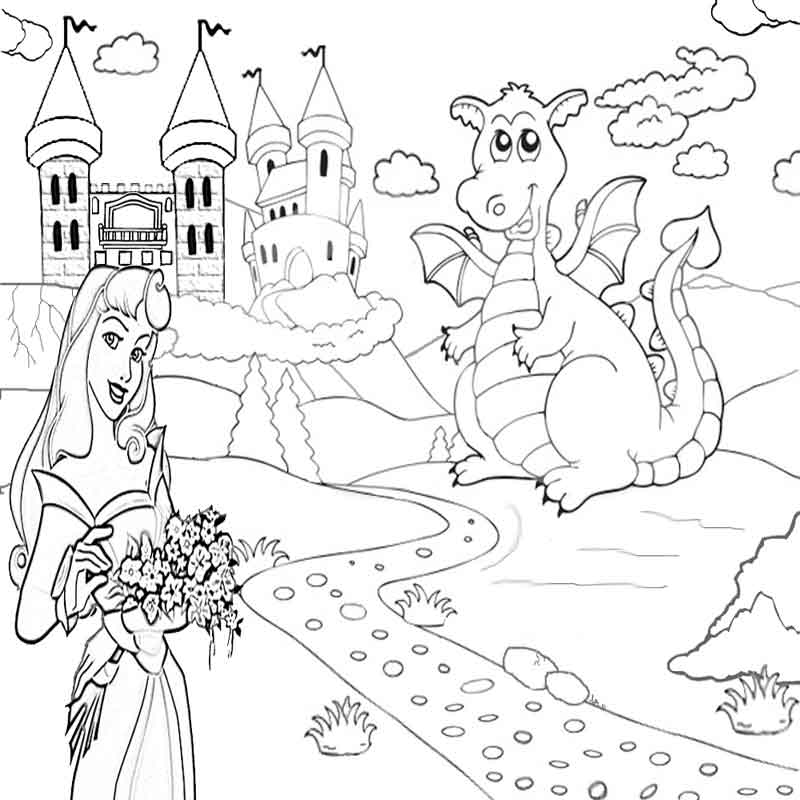 Castle Coloring Pages: Fantasy Dragon Coloring Pictures To Print And Color In