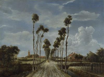 Meindert Hobbema  - L'allée de Middelhamis,1689.