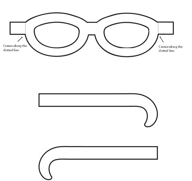 Molde De Oculos De E V A Cantinho Do Educador Infantil