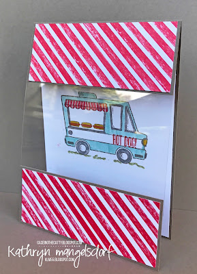 Stampin' Up! Tasty Trucks, Window Card, Sale-A-Bration created by Kathryn Mangelsdorf