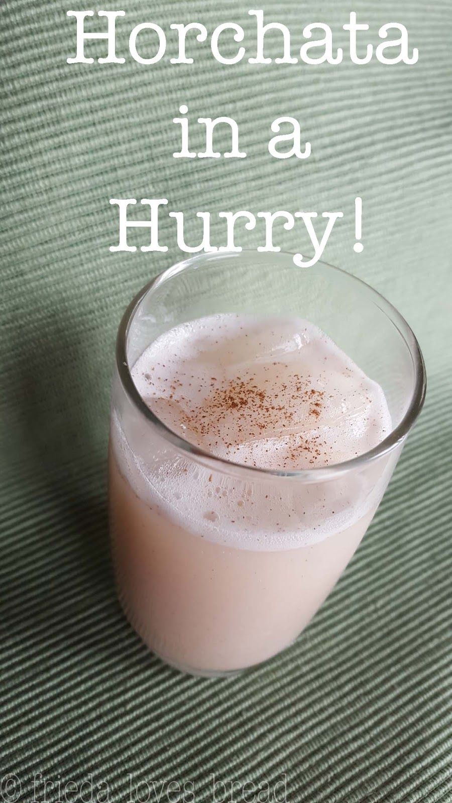 how to make horchata without milk