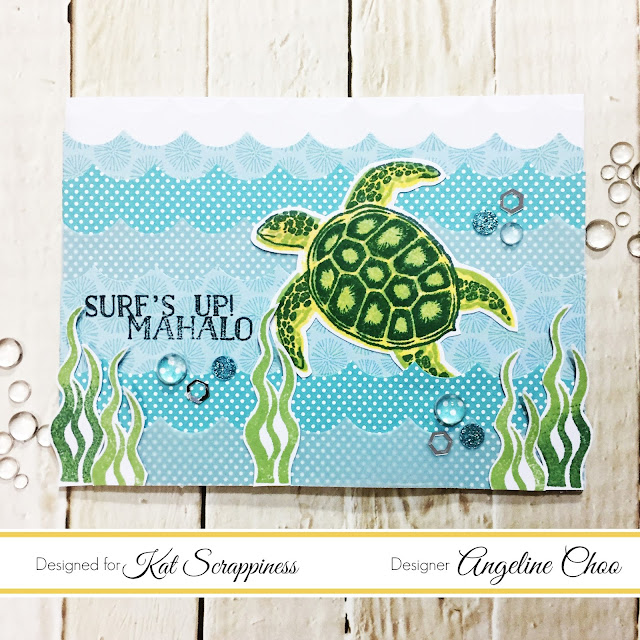 ScrappyScrappy: [NEW VIDEO] Turtle Waves card with Kat Scrappiness #scrappyscrappy #katscrappiness #heroarts #card #cardmaking #stamp #stamping #layeringstamp #altenew #diecut #wavesborder #youtube #quicktipvideo #processvideo