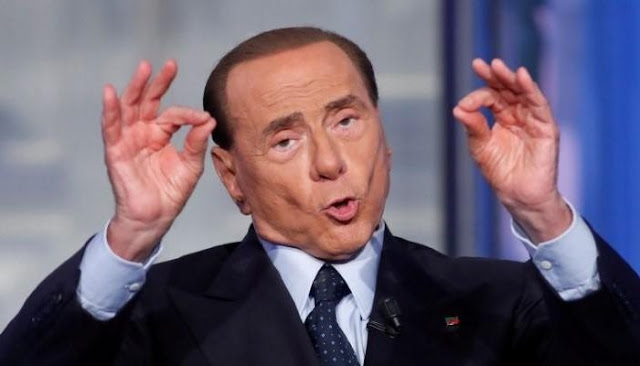 Italy's Silvio Berlusconi gestures during the television talk show 'Porta a Porta' (Door to Door) in Rome, Italy, June 21, 2017. REUTERS/Remo Casilli/Files