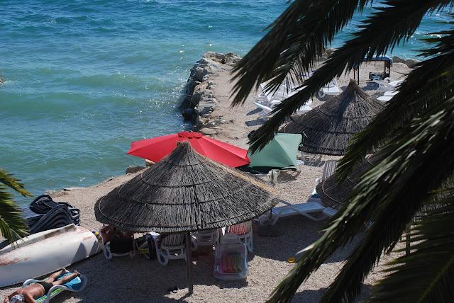 plaża przy willi Jerkan. Chorwacja, Podstrana
