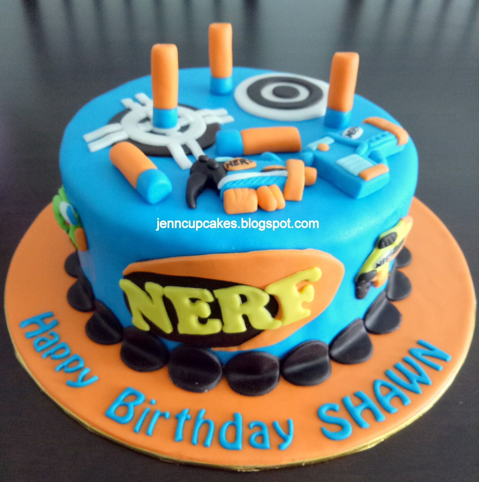 Jenn Cupcakes Muffins Nerf Theme Cake
