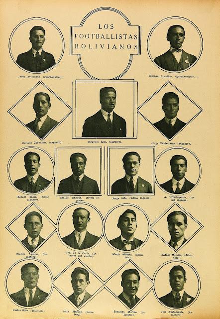 Plantel de Bolivia en Campeonato Sudamericano de 1926